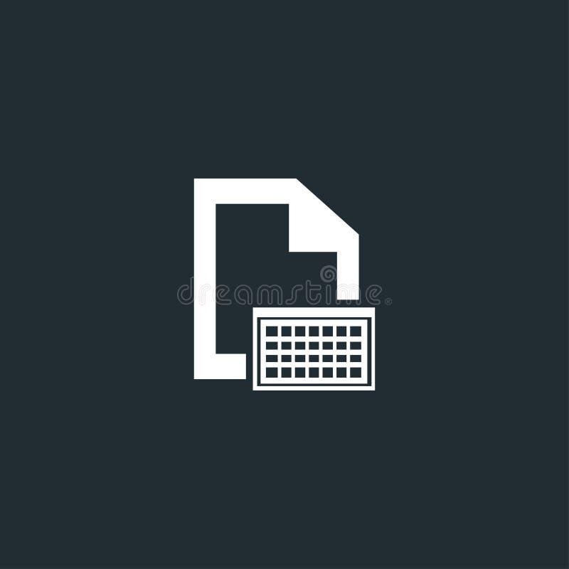 Document avec l'icône de clavier avec les marges blanches illustration de vecteur