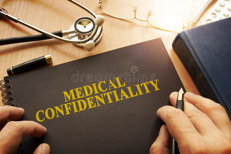 Document avec la confidentialité médicale de nom image libre de droits