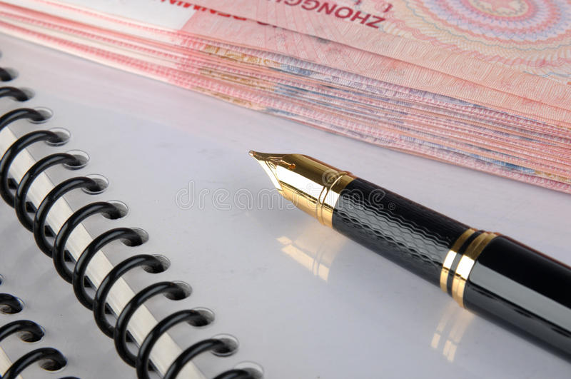 Download Document, Banknote And Fountain Pen Stock Image - Image: 13338259