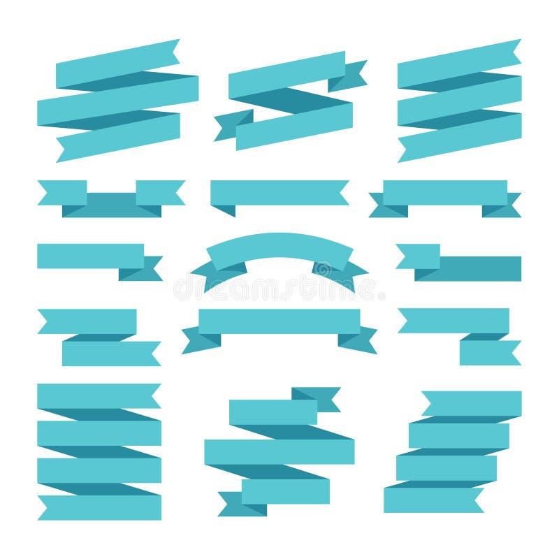 Document bannerslinten in origamistijl Vector illustratie royalty-vrije illustratie