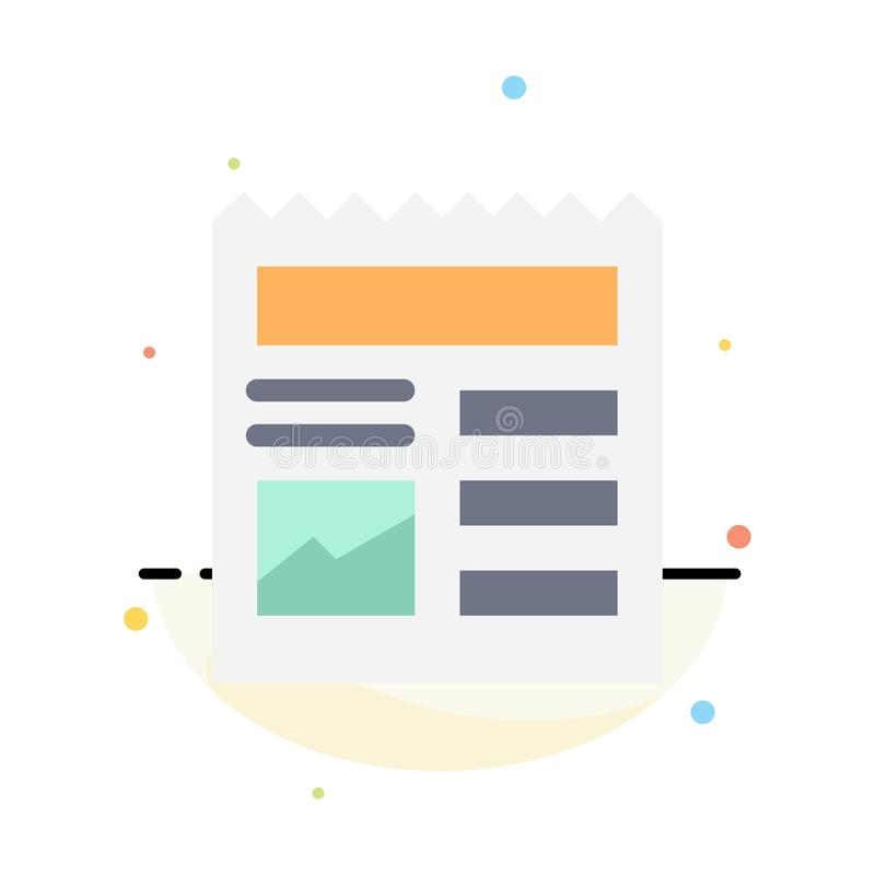 Document, Basic, Ui, Picture Abstract Flat Color Icon Template royalty free illustration