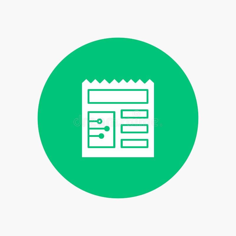 Document, Basis, Ui royalty-vrije illustratie