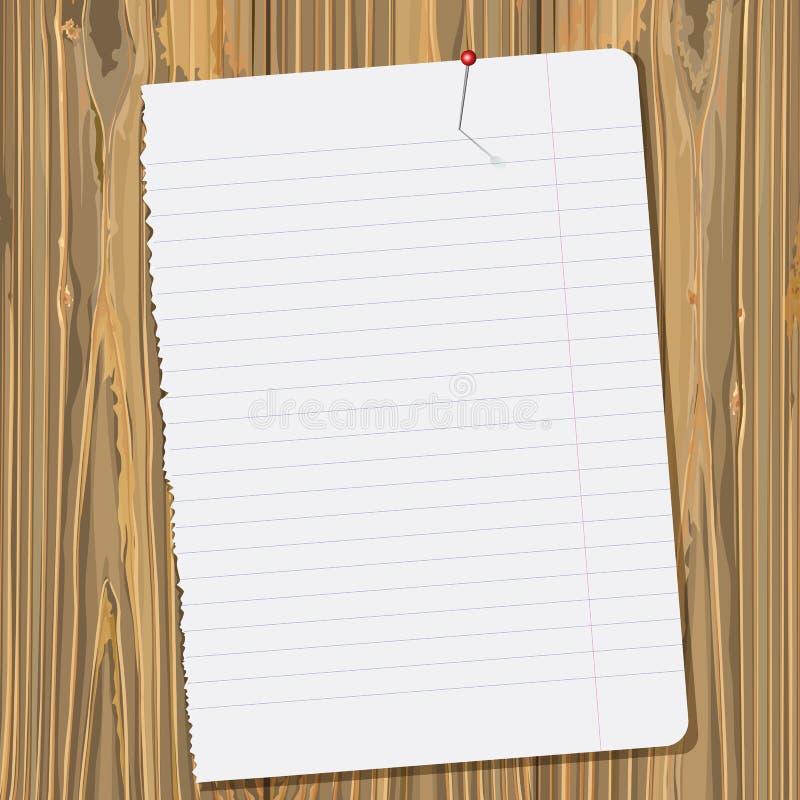 Document blad vector illustratie