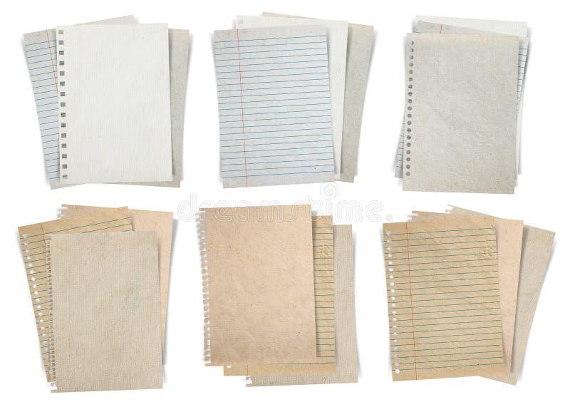 Document blad dat op witte achtergrond wordt geïsoleerd stock foto
