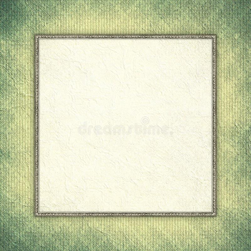 Document blad met lege ruimte voor tekst in kader stock illustratie