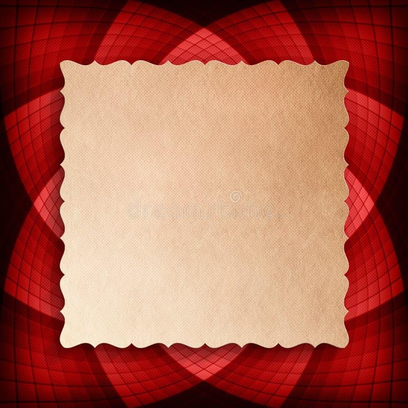 Document blad op rozet op achtergrond stock illustratie