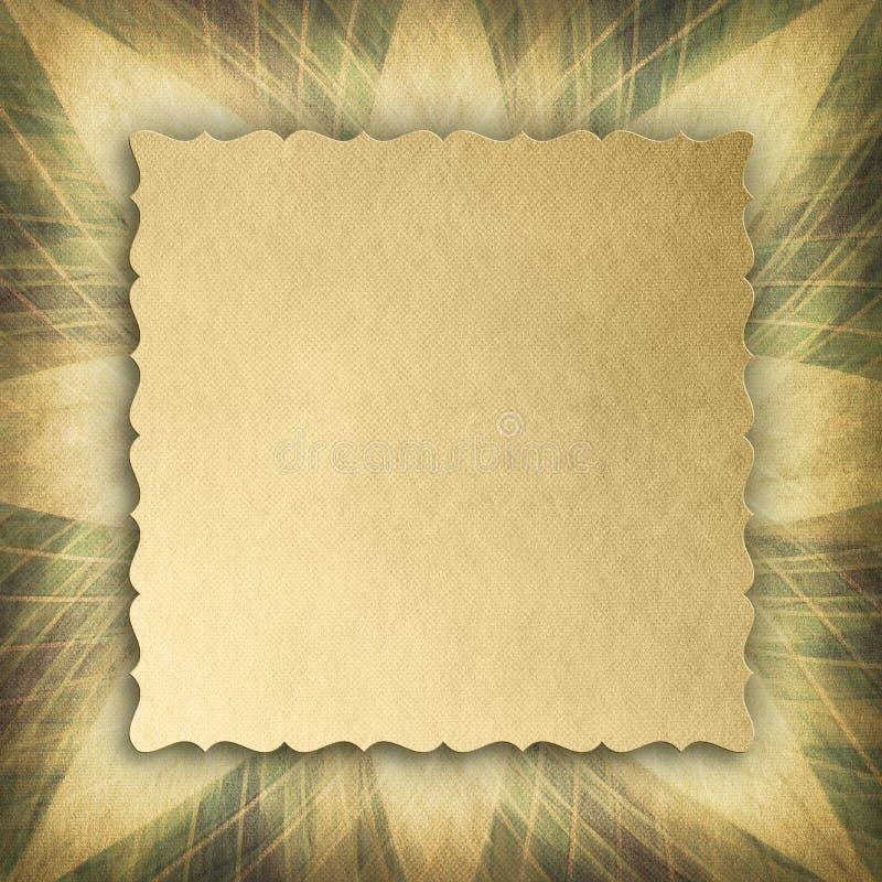 Document blad op samenvatting gevormde achtergrond vector illustratie