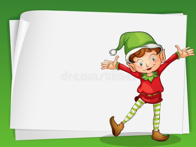 Document bladen en elve vector illustratie