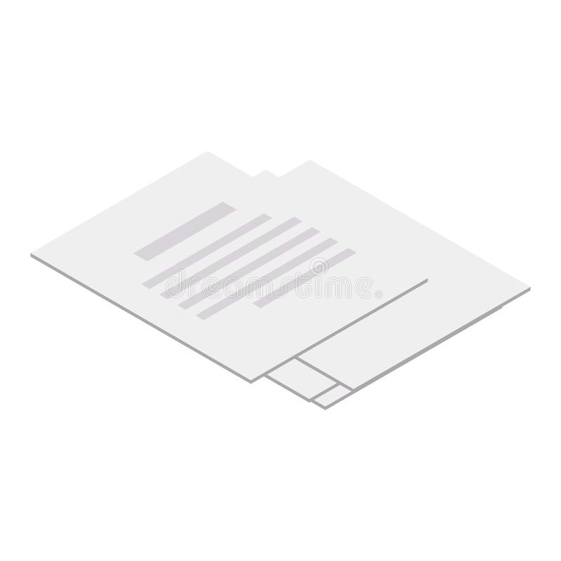 Document bladpictogram, isometrische stijl royalty-vrije illustratie