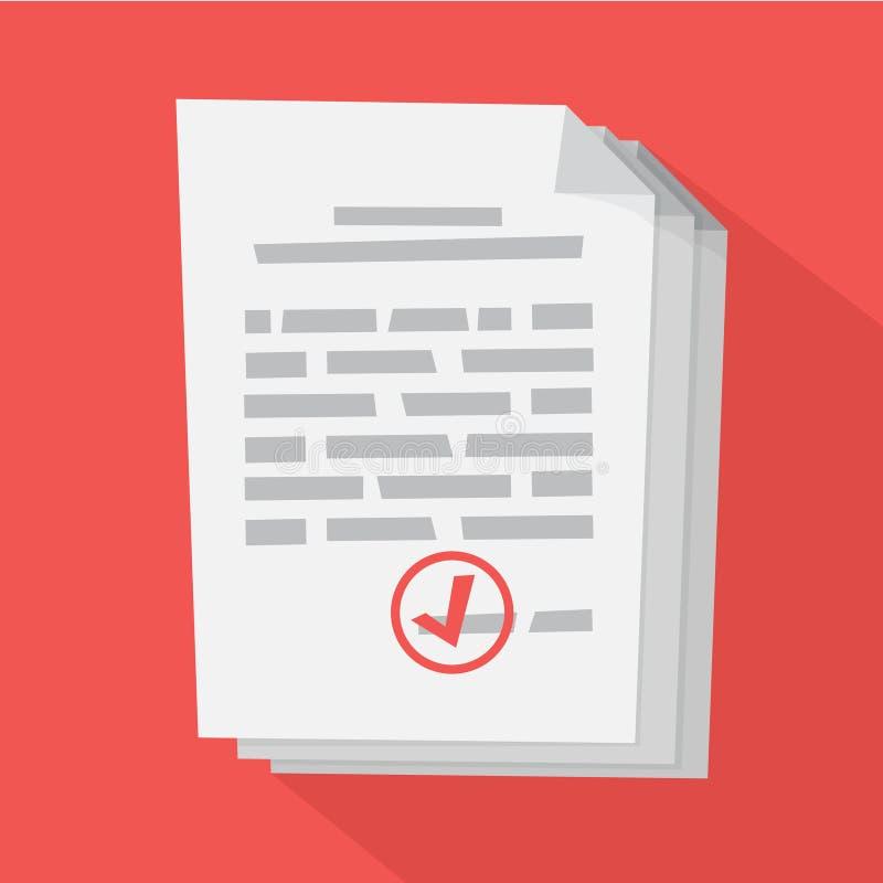Document blanc avec se connecter le illustration stock