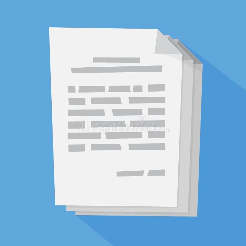 Document blanc pour le signe Accord avec le permis illustration stock