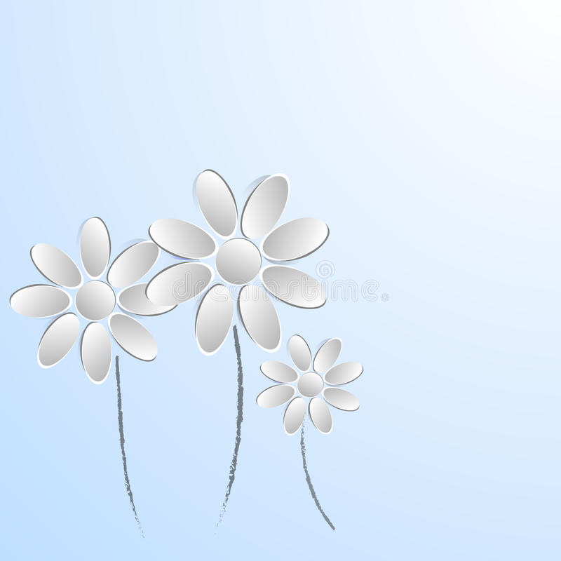 Document bloemen op witte achtergrond royalty-vrije stock foto