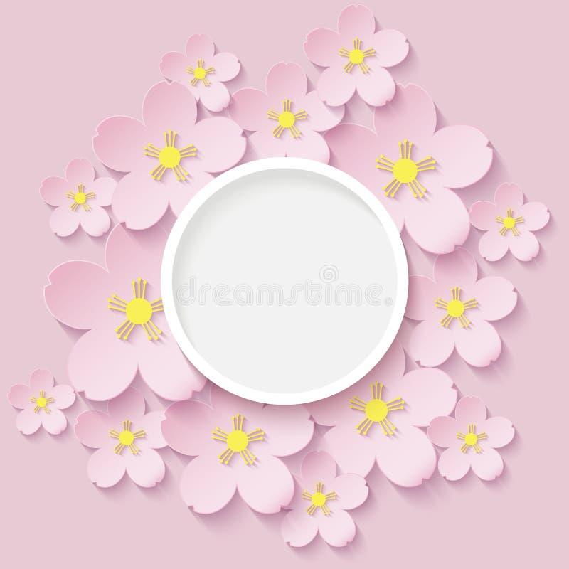 Document bloemen van sakura stock foto