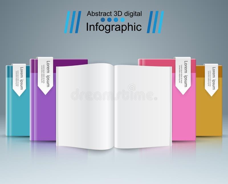 Document boek - infographic zaken vector illustratie