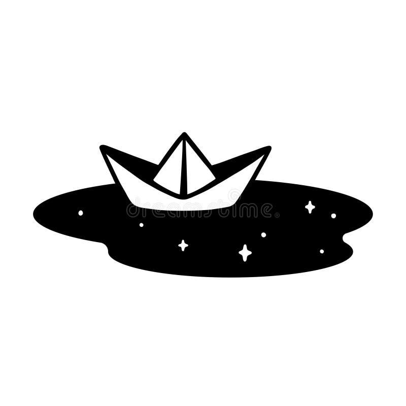 Document boot in vulklei royalty-vrije illustratie