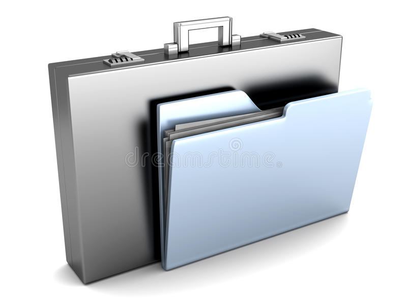 Download Document Briefcase stock illustration. Illustration of luggage - 34621811