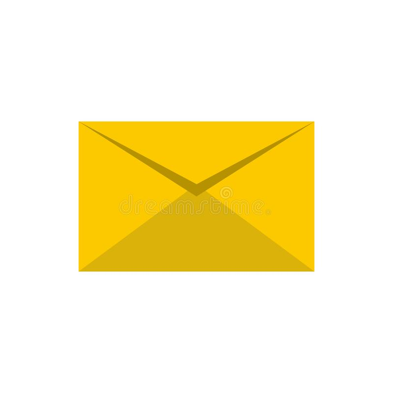 Document brievenpictogram, vlakke stijl royalty-vrije illustratie