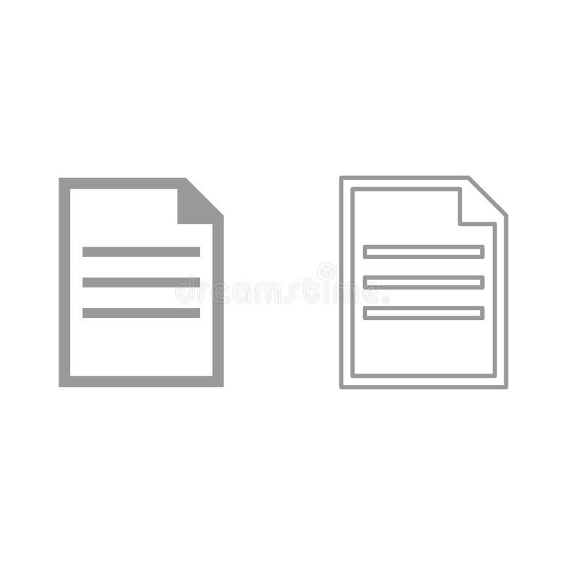 Document c'est icône illustration de vecteur