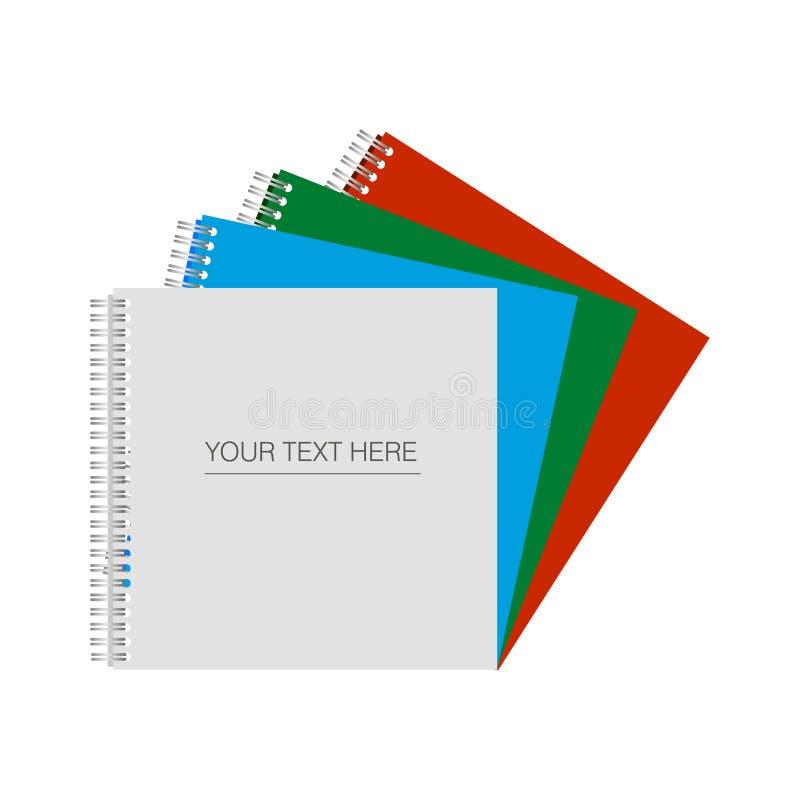 Document, catalogus, tijdschriften, boekspot omhoog Vector illustratie die op witte achtergrond wordt geïsoleerdd witte, blauwe,  royalty-vrije illustratie