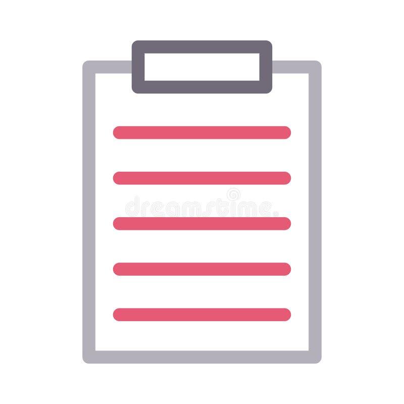 Document colour line vector  icon stock illustration