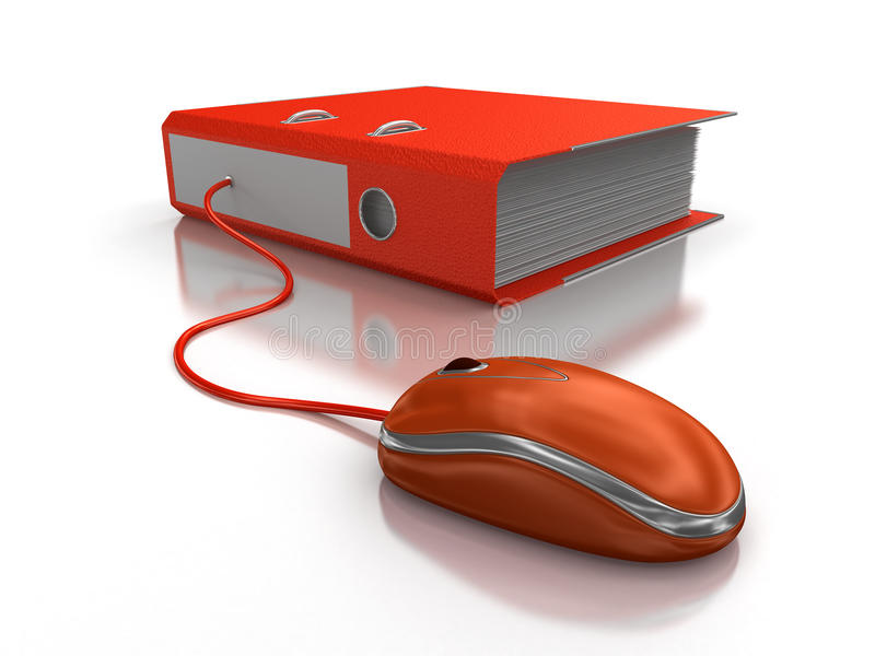 Download Document With Computer Mouse Royalty Free Stock Photography - Image: 34471027