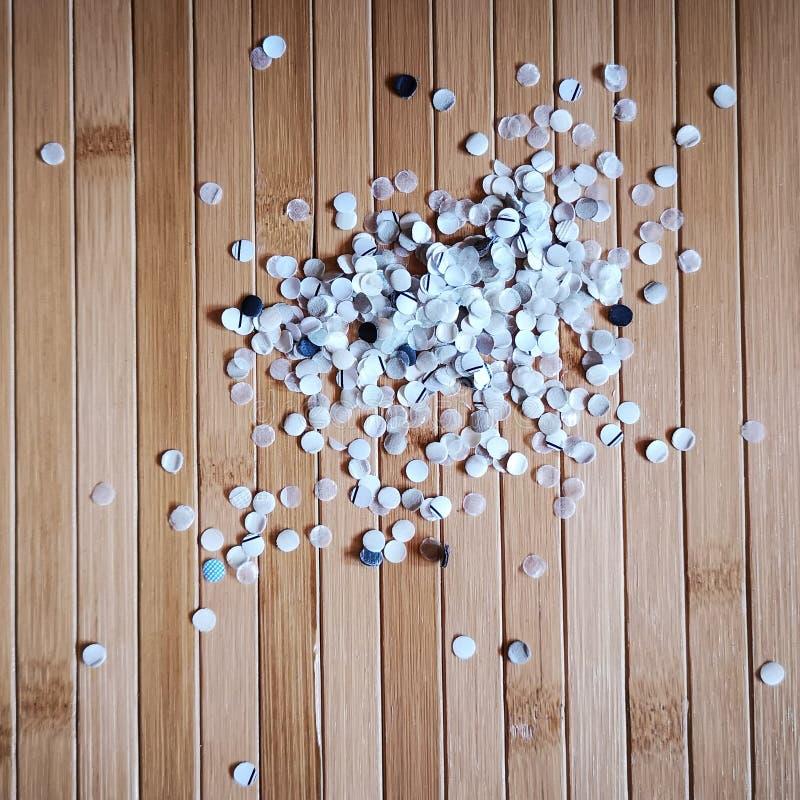 Document confettien van gat puncher royalty-vrije stock fotografie