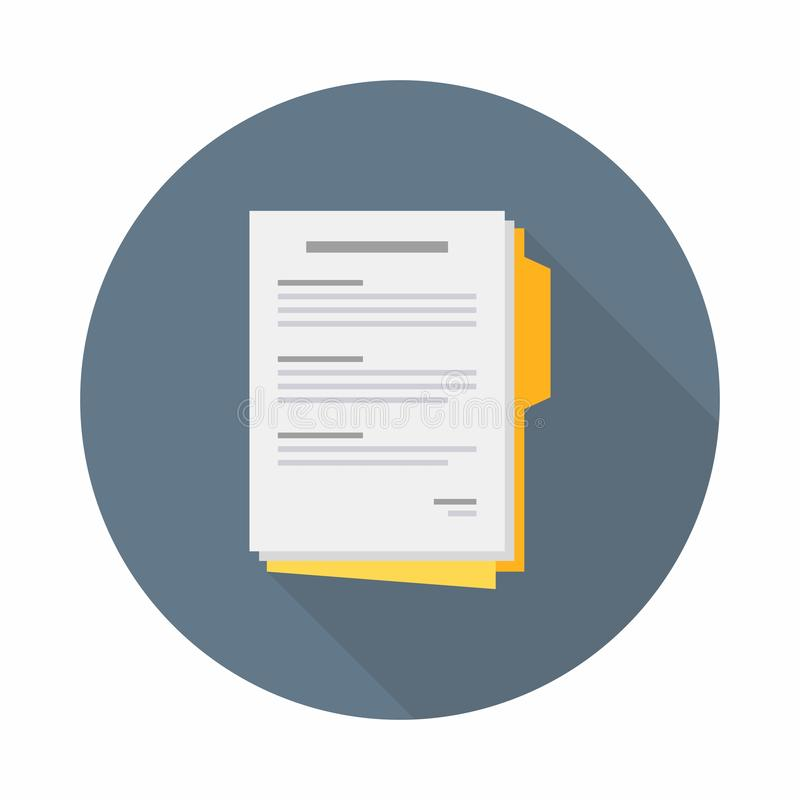 Document, Contract papers, Vector, Flat icon vector illustration
