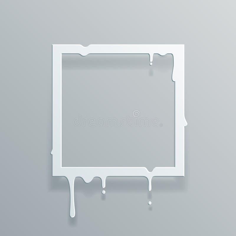 Document 3d stromende van het de dalingslek van de kunststroom vierkante van het het ontwerpmalplaatje abstracte vectorillustrati stock illustratie