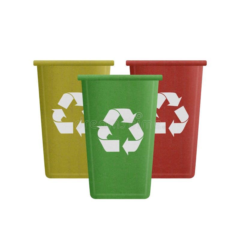 Document de besnoeiing van kringloopbak is kan recyclerend aan huisvuil voor omgeven royalty-vrije illustratie