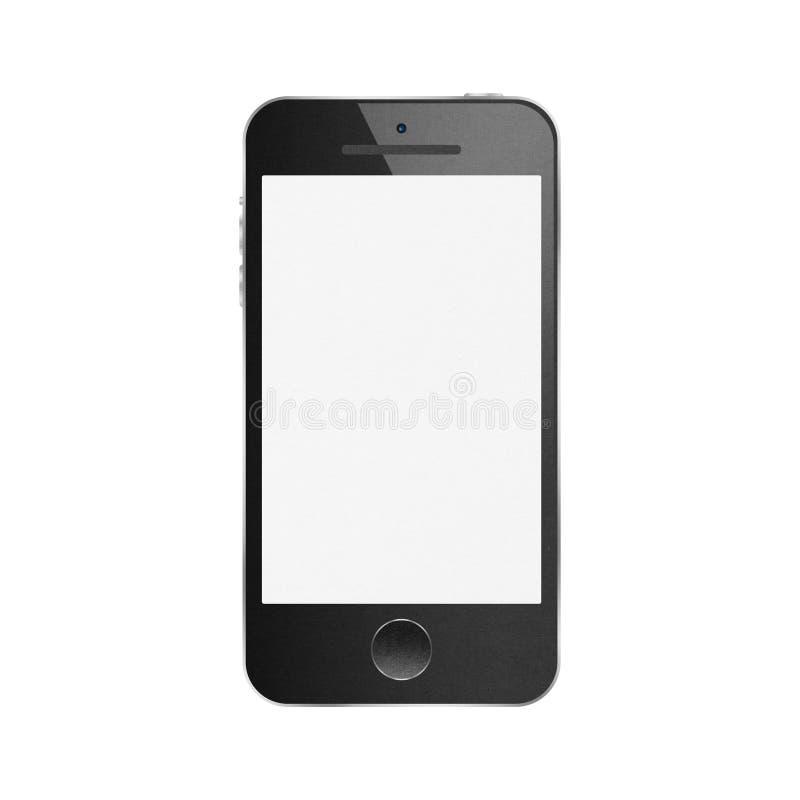 Document de besnoeiing van zwarte smartphone is moderne mobiel voor mededeling royalty-vrije stock afbeeldingen