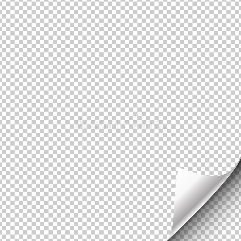 Document de pagina hangt met een verpakte omhoog hoek Vector illustratie stock illustratie