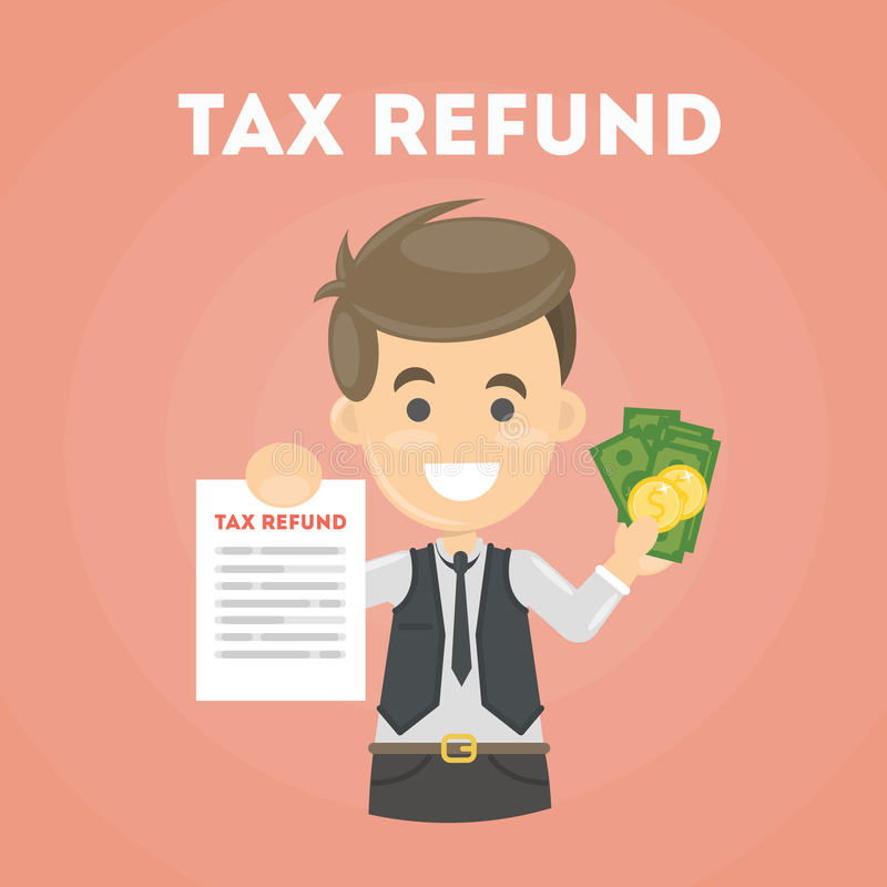 Document de remboursement d'impôt fiscal illustration de vecteur