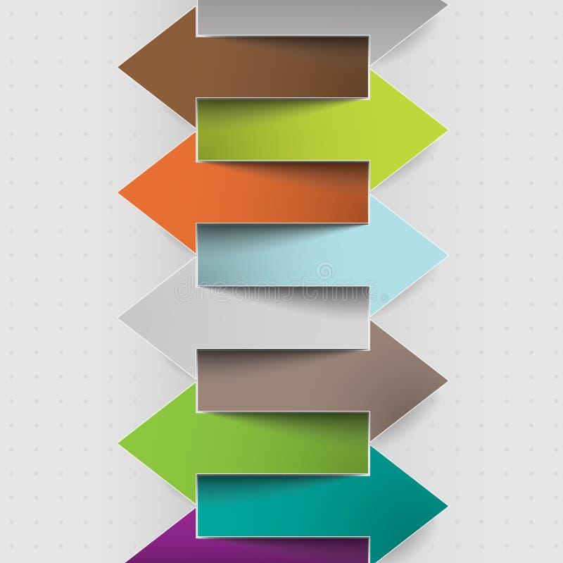 Document de stappen van het pijlenpatroon van vooruitgangszaken vector illustratie