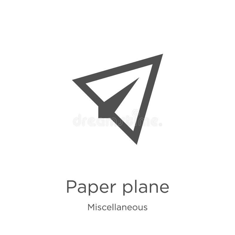 document de vector van het vliegtuigpictogram van diverse inzameling Dunne lijndocument het pictogram vectorillustratie van het v royalty-vrije illustratie