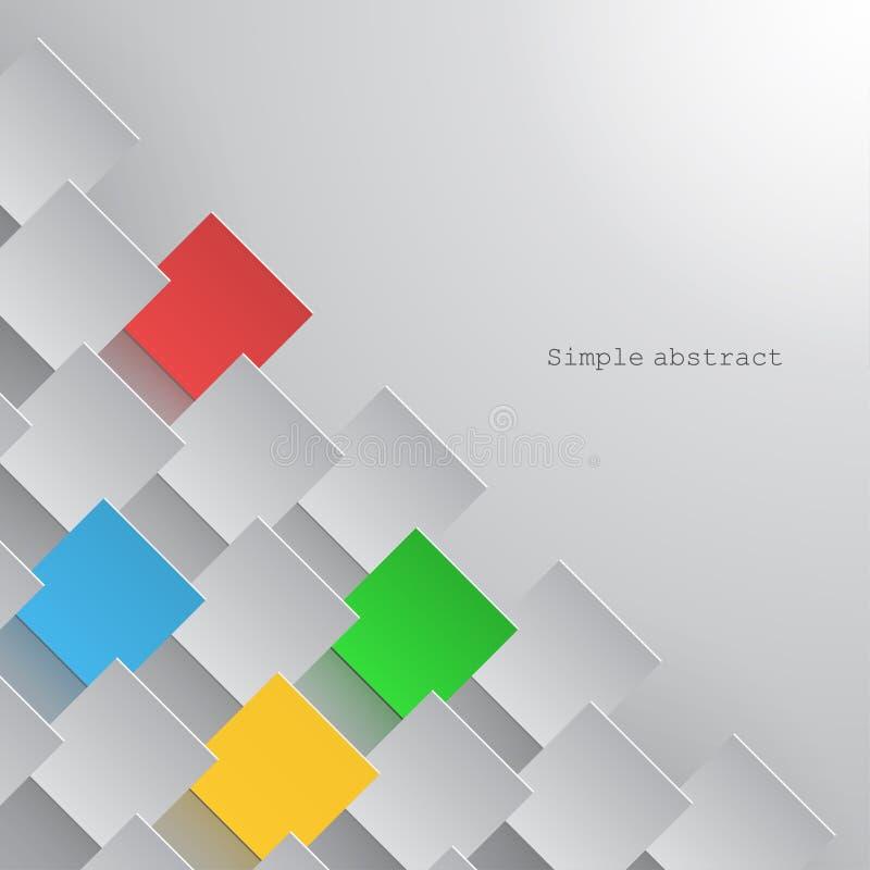 Document de vierkanten worden geschikt in een lijn met nadruk op zelfde van hen vector illustratie