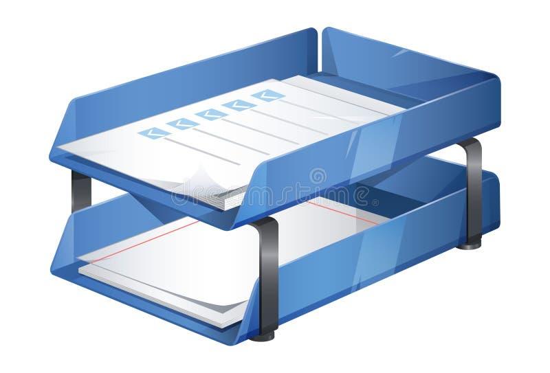 Document Dienblad - Illustratie stock illustratie