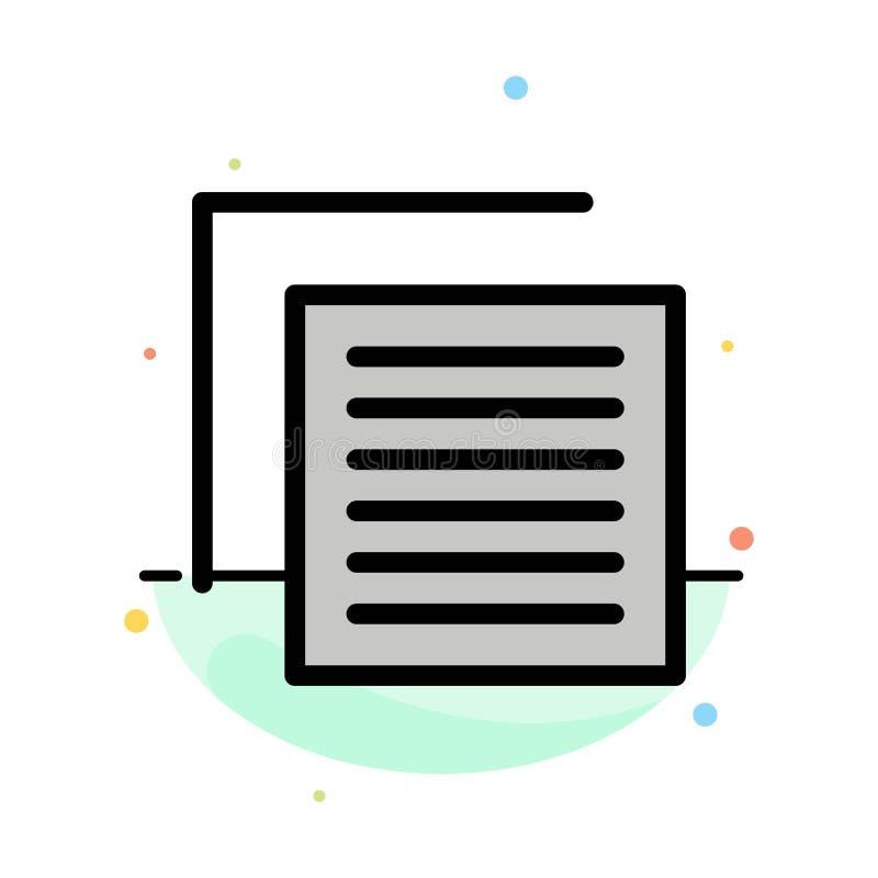 Document, Dossier, Gebruiker, het Pictogrammalplaatje van de Interface Abstract Vlak Kleur stock illustratie