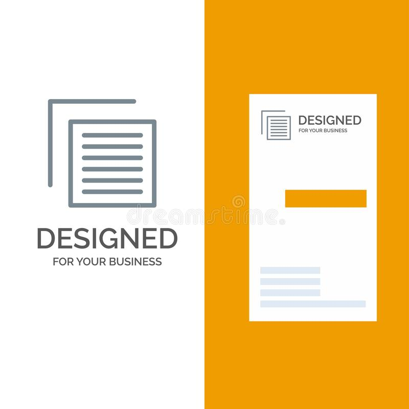 Document, Dossier, Gebruiker, Interface Grey Logo Design en Visitekaartjemalplaatje vector illustratie