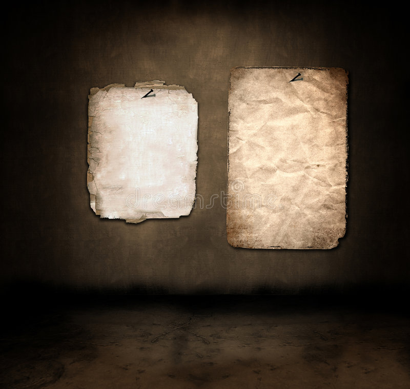 Document in een donkere ruimte vector illustratie