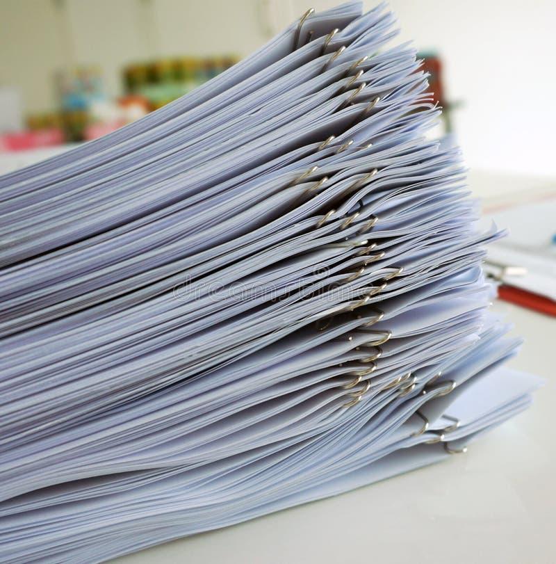 Document en folder stock foto
