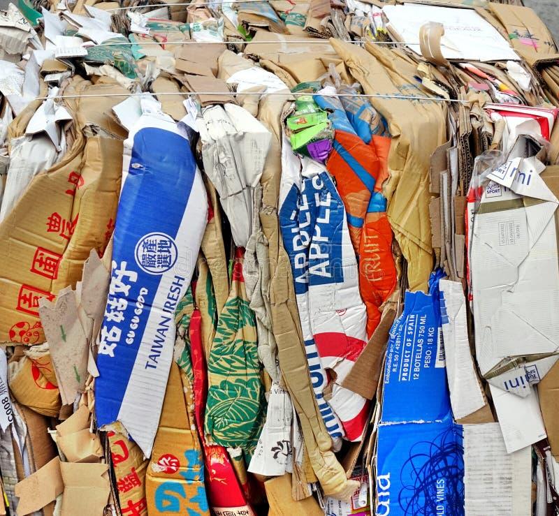 Document en Oude Vakjes Klaar voor Recycling royalty-vrije stock foto's