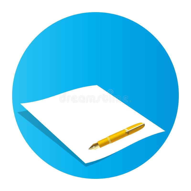 Document en pen royalty-vrije illustratie