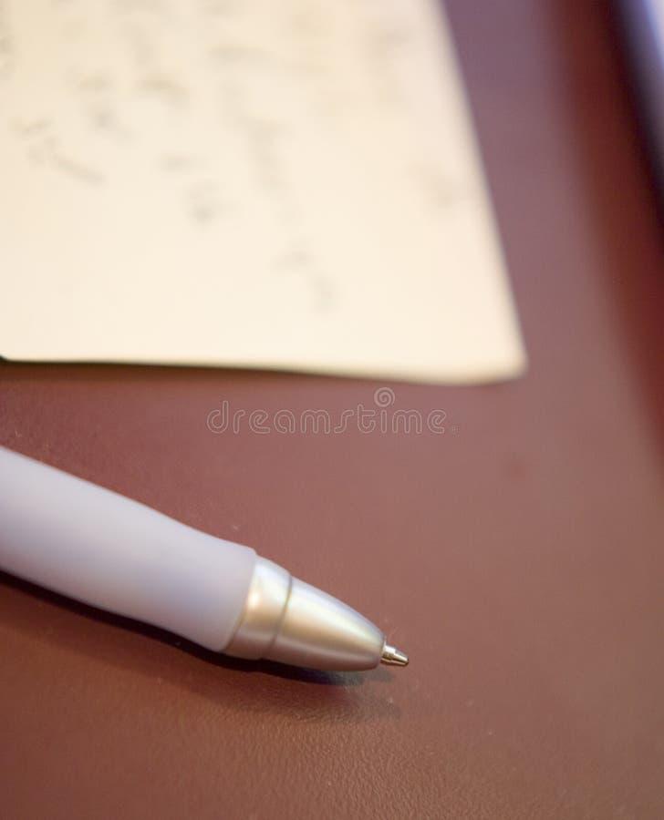 Document en Pen royalty-vrije stock foto's
