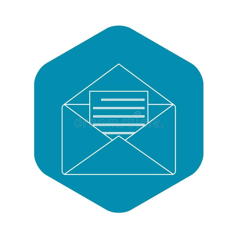 Document envelop met lege het overzichtsstijl van het bladpictogram royalty-vrije illustratie