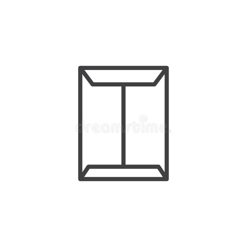 Document envelope outline icon stock illustration