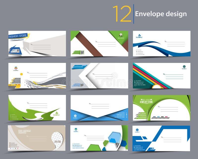 Document envelopmalplaatjes vector illustratie