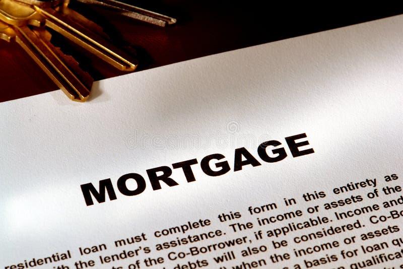 Document et clés d'hypothèque photo libre de droits