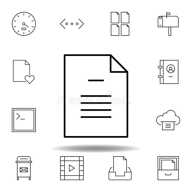 document file page outline icon. Detailed set of unigrid multimedia illustrations icons. Can be used for web, logo, mobile app, UI vector illustration