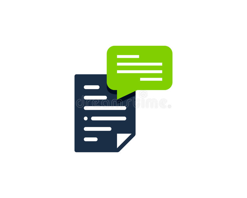 Document File Testimonial Icon Logo Design Element. This design can be used as a logo, icon or as a complement to a design vector illustration
