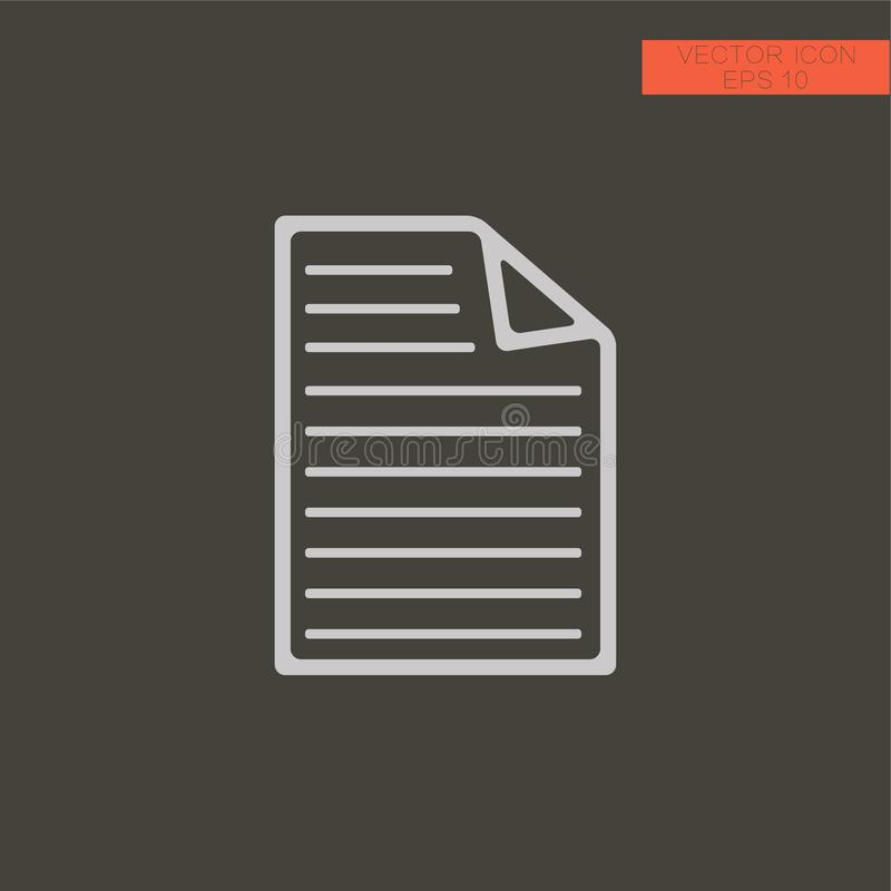 Document file vector icon. filled flat sign for mobile concept and web design. royalty free illustration